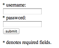 Authentication form
