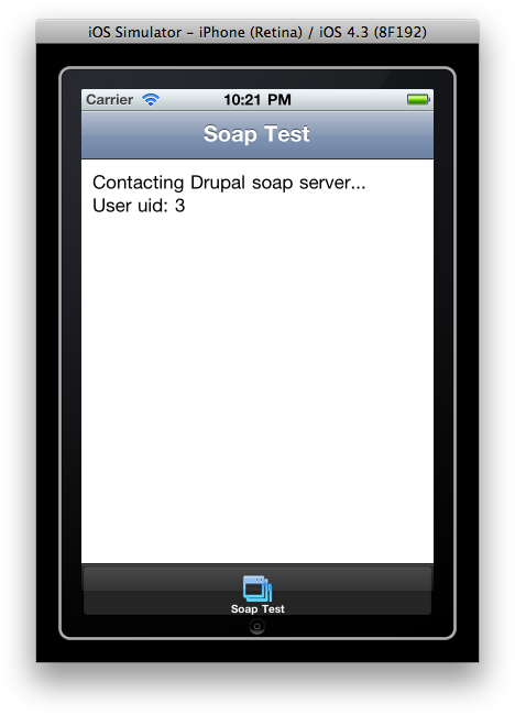iOS soap connection