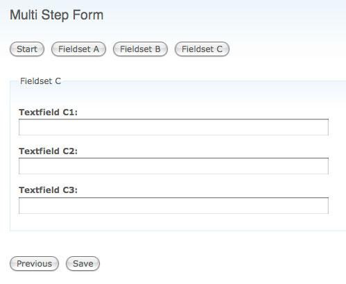 multi step form