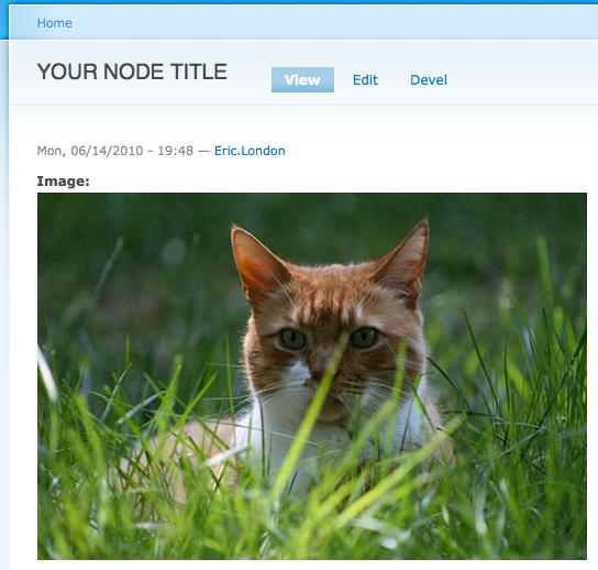 New image node