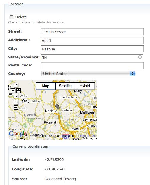 profile field location