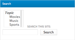 Search form with facet