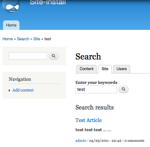 Solr Search Results