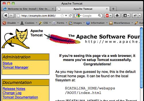 Tomcat homepage