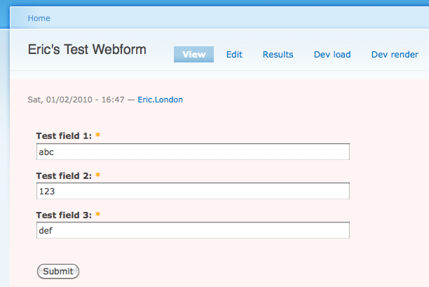 webform submit