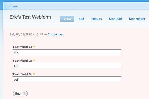 webform submit